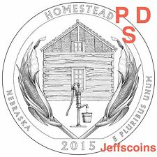 2015 P D S Homestead National Park QUARTER Nebraska New U.S. Mint State NF5 PDS