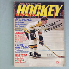 Hockey Guide Magazine 1971 Cord Sportfacts Bobby Orr cover Boston Bruins NHL