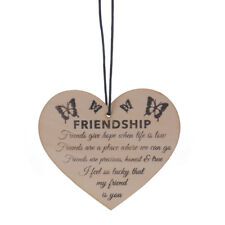 1pc NEW Wooden Heart Plaque Good Friends Sign Best Friend Gift  Chic Christmas