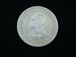 Angola 1928 50 Centavos XF KM#69 10418