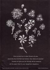 1967 De Beers Diamond Flower Earrings Pins Brooch photo vintage promo print ad