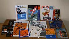 Ensemble documents relatifs à TINTIN Hergé - dépliants, magazines, stickers...