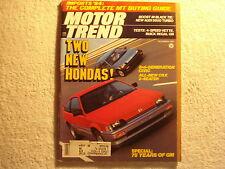 Motor Trend 1983 December Audi Buick Regal Honda Corvette VW Golf Peugeot