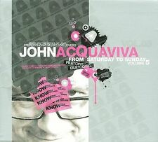 John Acquaviva - From Saturday to Sunday, Vol. 5 2 CD Set NEW