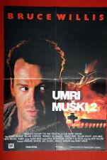 Die Hard 2 Bruce Willis Bedelia Rare Exyu Movie Poster