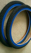 PAIR OF DURO BMX BICYCLE TIRES,20X1.95,THICK BLUEWALL