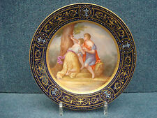 "Royal Vienna Porcelain Plate ""Angelika & Medoro"", 19-20th Century Mythological"