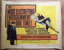 Marlene Dietrich - Witness for the Prosecution US Half Sheet Movieposter 1958