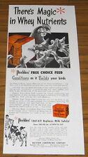 1951 Vintage Ad Peebles Free Choice Feed for Farm Chickens and Turkeys