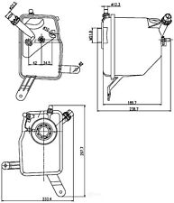 Engine Coolant Recovery Tank-Eng Code: N62, FI Behr Hella Service 376789731