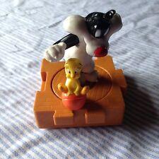 "1996 Warner Bro.s Silvester /tweety Push Toy 3"""
