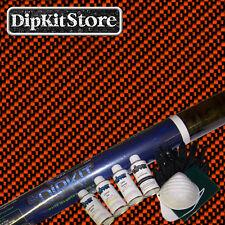 Hydrographics Dip Kit w Large Black & Clear Carbon Fiber Film CF0112WORANGEPaint
