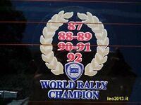 Lancia delta hf integrale evoluzione 1-2 stickers adesivo lunotto world rally ch