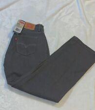 Boys Size 18 Reg 29 X 29 505 Levi's Levi Strauss Denim Gray Jeans Straight New