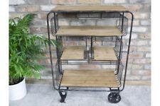 Industrial Factory Style Metal Open Shelf Storage Trolley Style - Office Unit