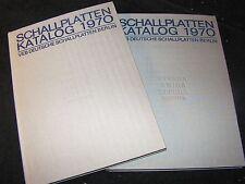 SCHALLPLATTEN-KATALOG 1970 Band 1 & 2 / VEB DEUTSCHE SCHALLPLATTEN