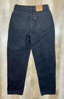 Vtg Levi's 545 Loose Fit Black Jeans Paper Tag Tapered Mens 32x38 Fits 30 Inseam