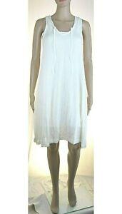 Vestito Donna Leggero con Sottabito Abito RISSKIO Bianco I870 Tg S M