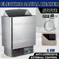 6KW Wet&Dry Sauna Heater Stove External Control Commercial Wall-mount Cozy