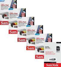 SanDisk Ultra Flair 16GB 32GB 64GB 128GB 256GB 512GB USB 3.0 SD CZ73 150MB/s LOT