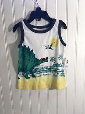 Old Navy toddler boys sleeveless top Dinosaur graphic Size 18-24 mo  NWT