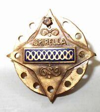 Spirella corset company. Vintage corset lapel pin.