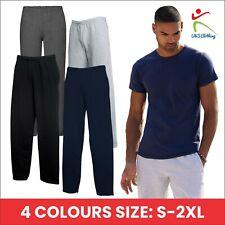 Classic Open Hem Leg Sweatpants Cotton Rich Fleece Pants Casualwear Bottoms