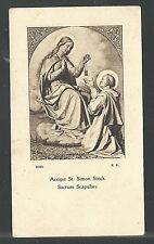 estampa antigua de San Simon Stock santino holy card image pieuse
