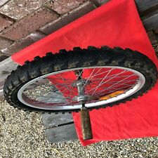 BMX OLD SCHOOL 48H 20 INCH ALLOY WHEEL WITH FOOT STUNT PEGS MONGOOSE DIAMONDBACK