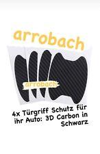 4x Auto Türgriff Lackschutz Aufkleber Folie Türschutz Mulde, Carbon, SCHWARZ
