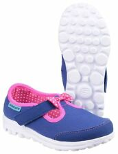 Chaussures bleus Skechers en toile pour fille de 2 à 16 ans