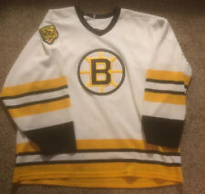 Vintage Boston Bruins Jersey MASKA CCM XL NHL Hockey Jersey White
