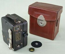 Vintage Carl Zeiss Ikon Kinamo 16mm Cine Camera with Leather Case
