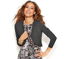Tunic Cardigan Shrug Sweater NEW Womens Medium Large BLACK $46 Thalia Sodi Z316