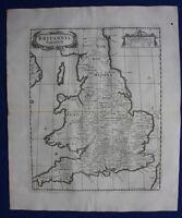 BRITANNIA SAXONICA, ENGLAND & WALES original antique map, Robert Morden, 1722