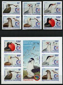 Neukaledonien 1995 Vögel Möwen Fischadler 1045-1050 + Block 18 U Imperf MNH/ 171