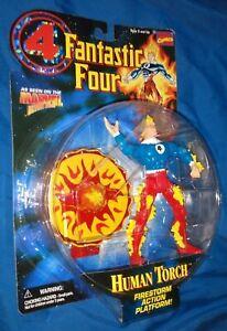Fantastic Four Human Torch firestorm action figure MOC 1996 Toy Biz Marvel FF