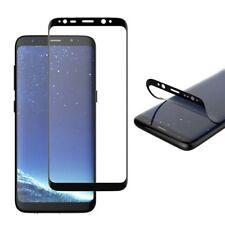 2x Hibrido TPU Curvo Folio Panzer Lámina Negro para Samsung Galaxy S9 Plus G965