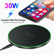 30W Qi Fast Wireless Charger Charging Pad For iPhone 12 Pro XS 8 Samsung S20 S10