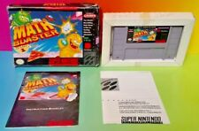 Math Blaster: Episode 1 SNES Super Nintendo Game COMPLETE CIB Rare Box Authentic