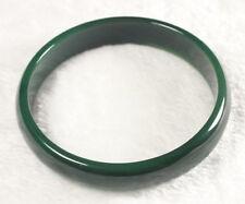 GREEN AGATE NATURAL JADE BANGLE BRACELET 68- 70 mm BIG SZ BOX