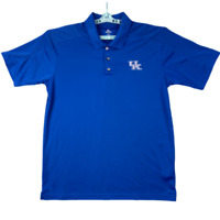 Knights Apparel Mens University Of Kentucky Wildcats Blue Polo Shirt Size Large