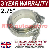 "V-BAND CLAMP + FLANGES COMPLETE STAINLESS STEEL EXHAUST TURBO HOSE 2.75"" 70mm"