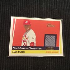 2016 TOPPS HERITAGE MINOR LEAGUE ALEX REYES *GAME USED JERSEY* MEMPHIS REDBIRDS