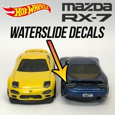 Hot Wheels Mazda Rx7 Custom WaterSlide White Toner Decal Headlight Taillight