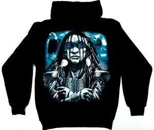 Native American Indian Hooded Sweatshirt Warrior Chief Pullover Hoodie Men's New