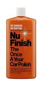 Nu Finish No Wax Car Cleaner Polish. Apply it only once a year