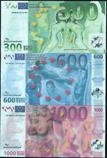 Full Set of Germany 300-600-1000 Euro Banknote/ Paper Money/ UNC (3 Pieces)