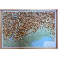 Le Tre Venezie Carta Regionale in Rilievo | 94x69 cm | Con Cornice | Global Map
