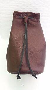 Medieval Handmade Leather Pouch Bag - large, Drawstring Renaissance 8X7